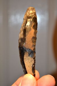 An excellently worked and good sized Neolithic Flint fabricator / Knife multi-tool from Kent. SOLD